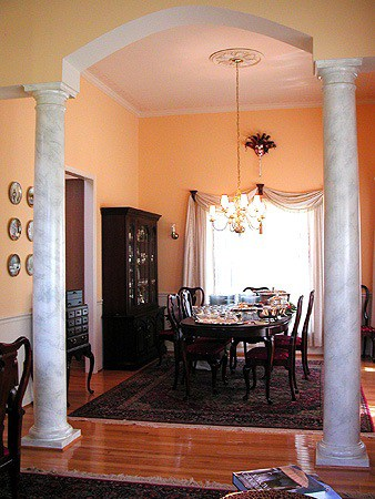 Faux Carrera Marble Columns by Ashley Spencer