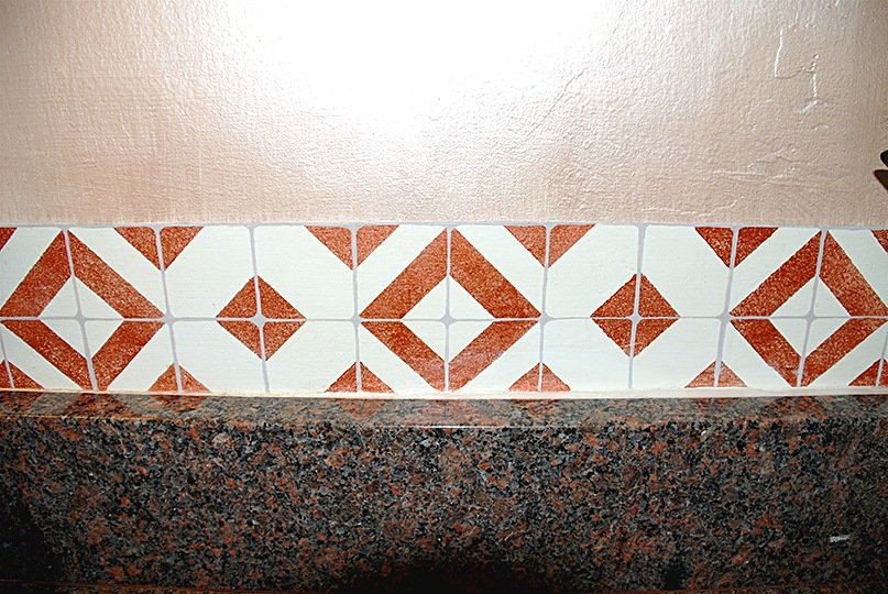 Faux Tile Detail by Ashley Spencer