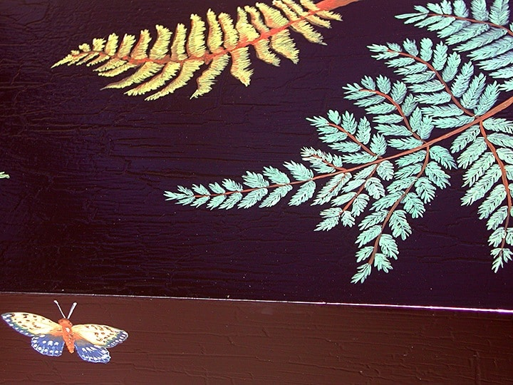 Detail of Custom Console Table handpainted by Ashley Spencer