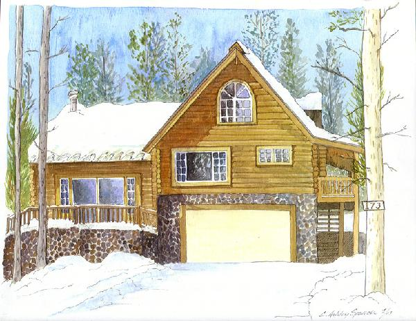 Watercolored House Rendering, Fine Art, Architectural, Ashley Spencer, Rendering, Watercolor