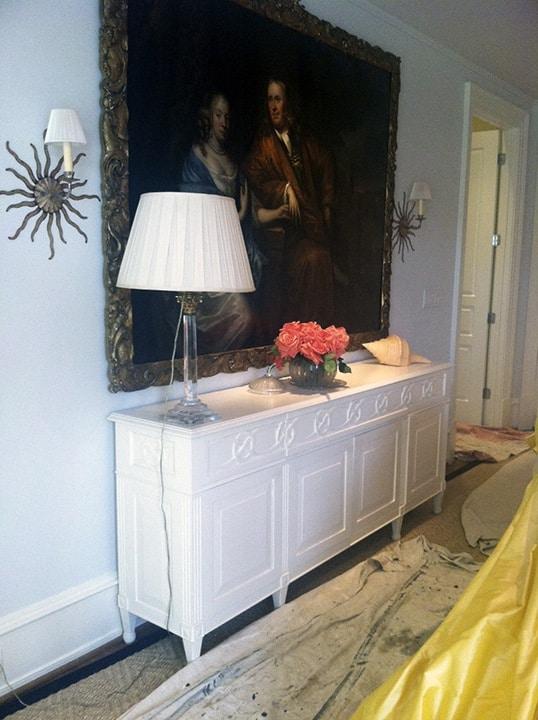 Stark White Buffet Before Glazing by Ashley Spencer