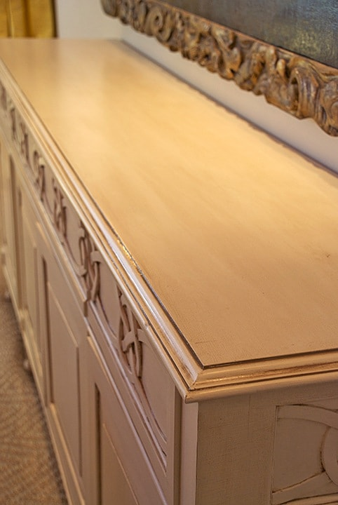 Buffet Glazing Smooth Top Detail - by Ashley Spencer