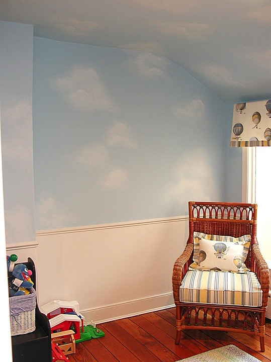 Over All Clouds in Nursery painted by Ashley Spencer